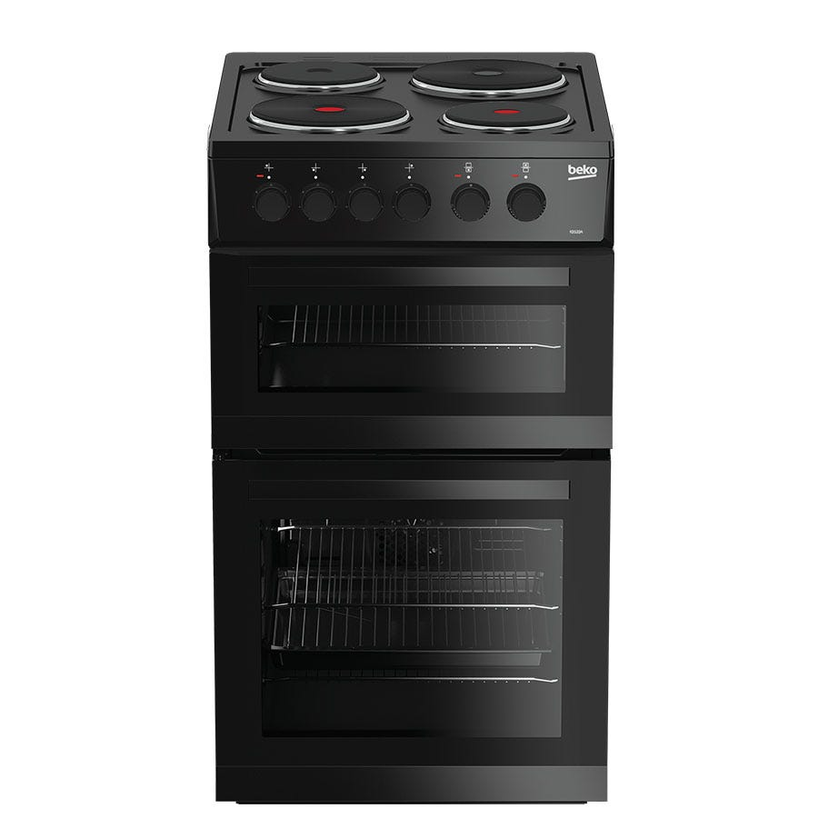 Compare cheap offers & prices of Beko KD533AK Double Oven Electric Cooker - Black manufactured by Beko