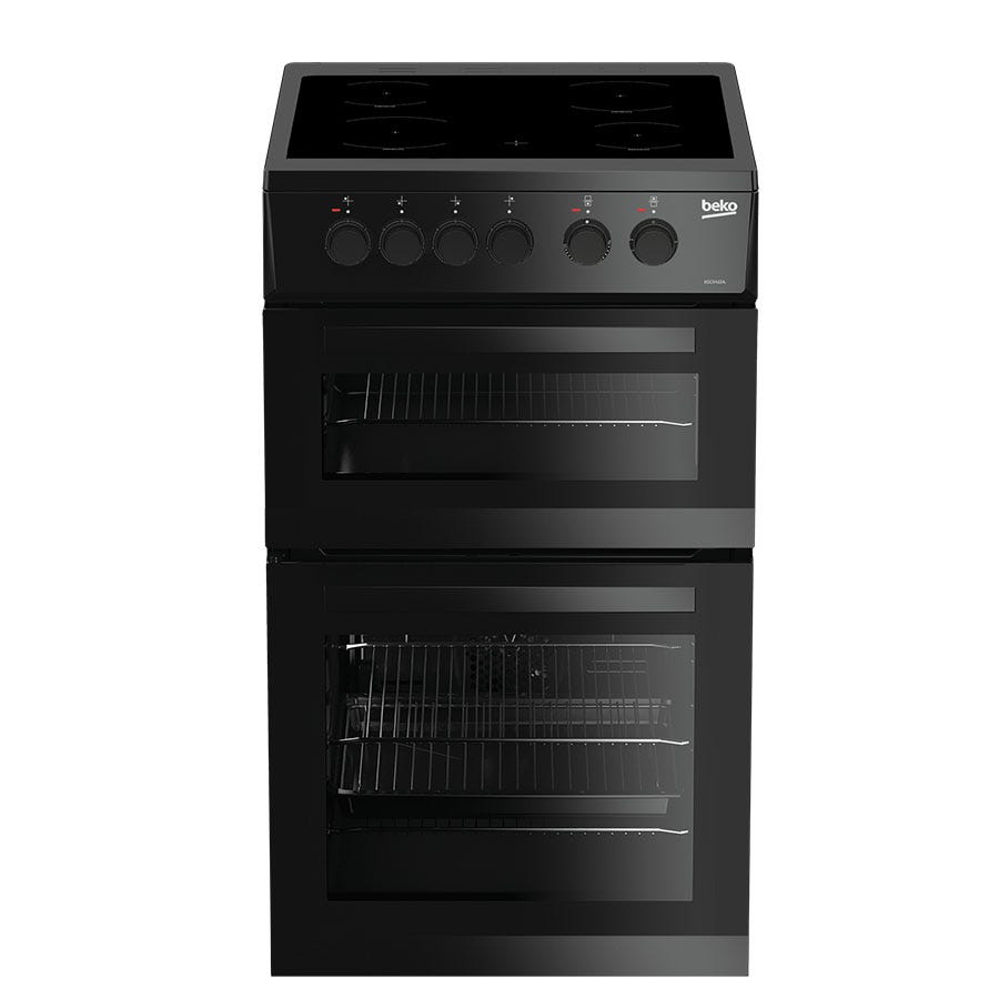 Compare cheap offers & prices of Beko KDC5422AK Double Oven Electric Cooker - Black manufactured by Beko