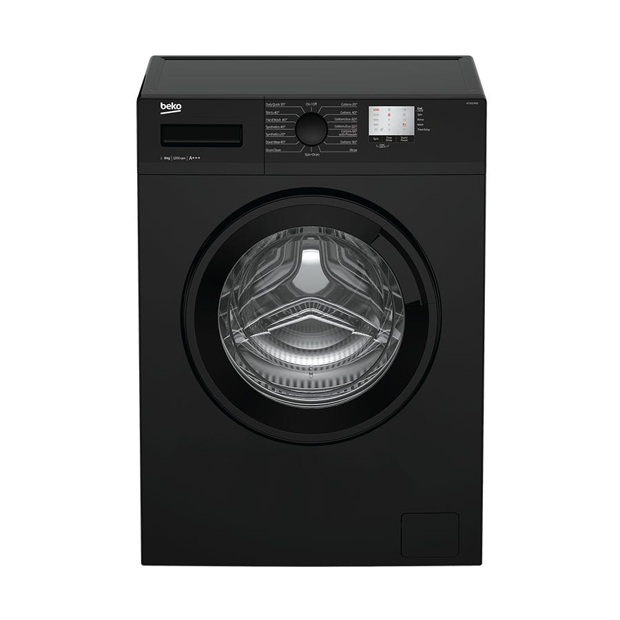 Compare retail prices of Beko WTG820M1B 8kg 1200rpm Washing Machine - Black to get the best deal online