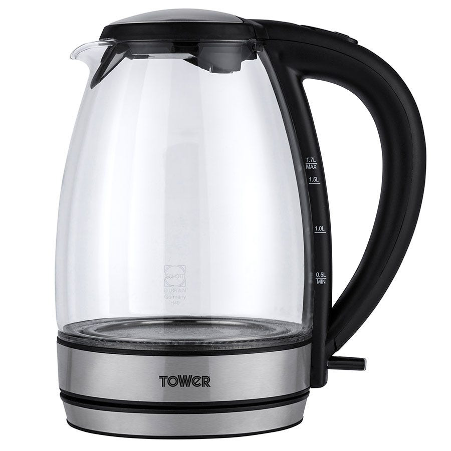 Tower 1.7L Colour-Changing Glass Kettle