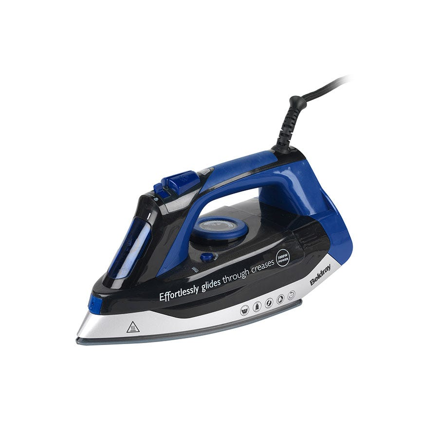 Compare retail prices of Beldray BEL0562 3000-Watt Steam Iron - Black/Blue to get the best deal online
