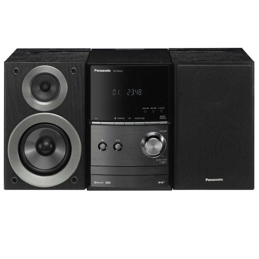 Panasonic SC-PM602EB-K 40W Micro Hi-Fi CD System with DAB and Bluetooth - Black