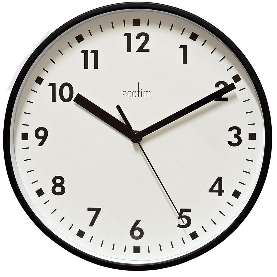 Image of Acctim Wickford Wall Clock - Coal
