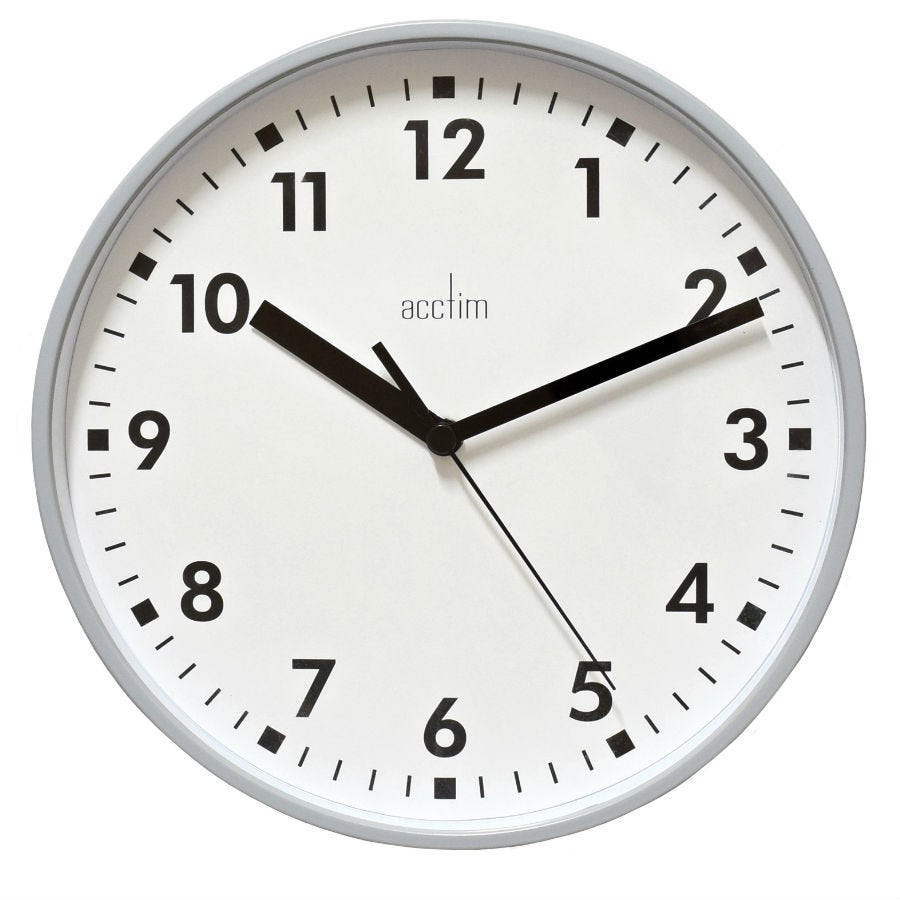 Image of Acctim Wickford Wall Clock - Grey
