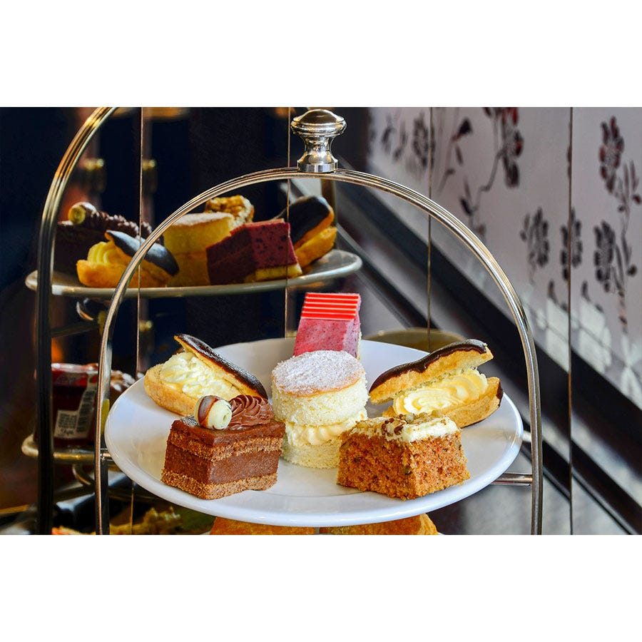 Buyagift Afternoon Tea for Two at Patisserie Valerie with Cake Gift Box Experience