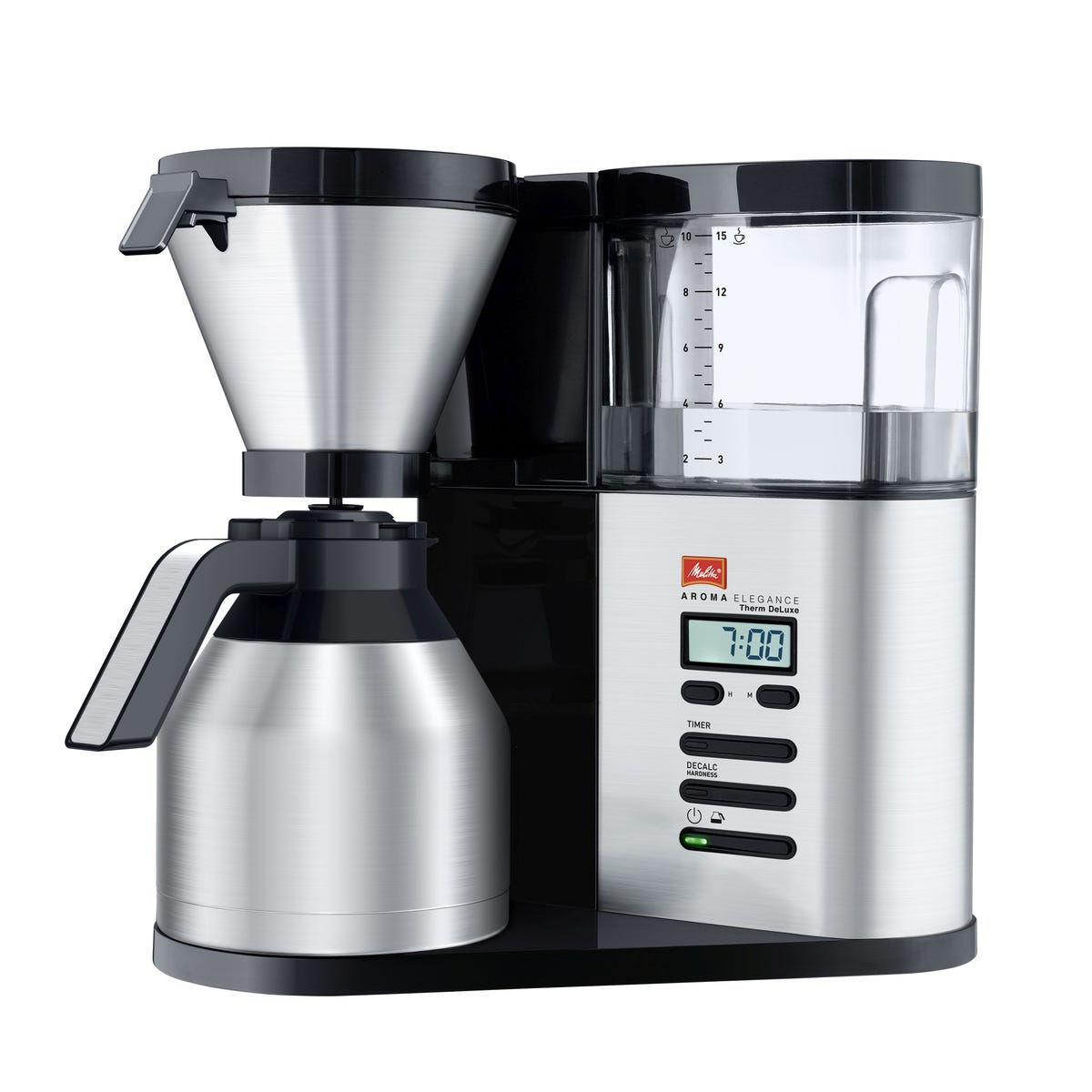 Melitta ML8112 AromaElegance Therm DeLuxe 1800W Filter Coffee Machine - Black