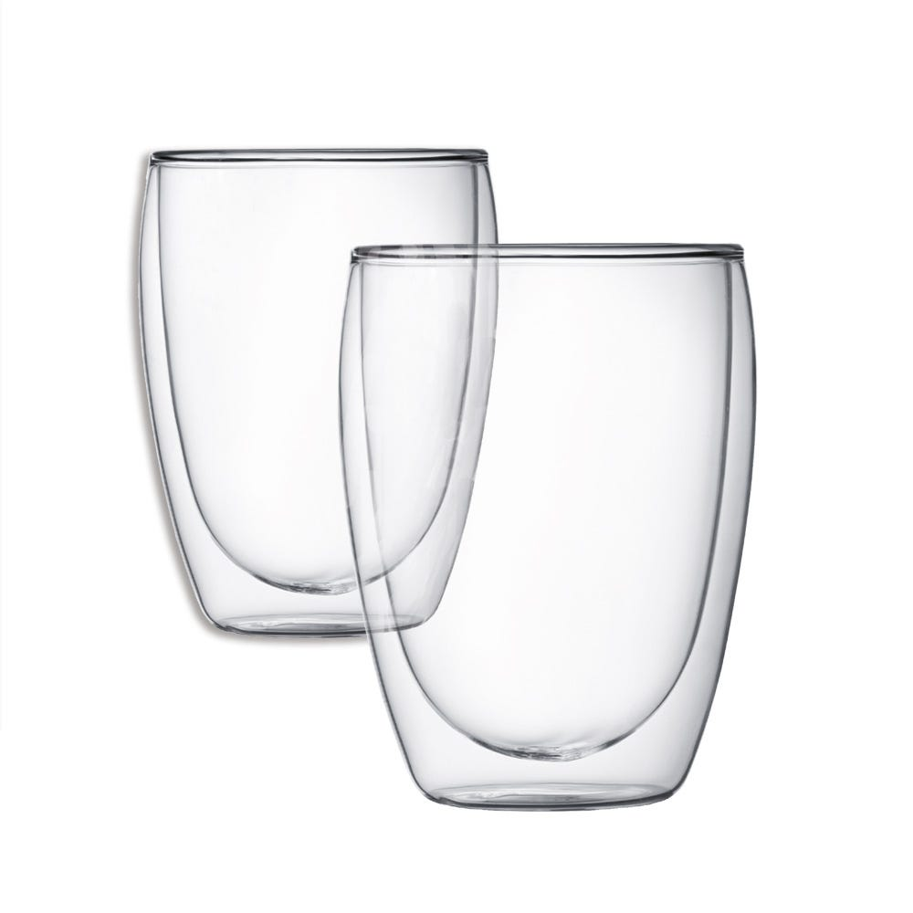 Compare prices for Bodum Double-Walled Pavina Glass Mug - Pair