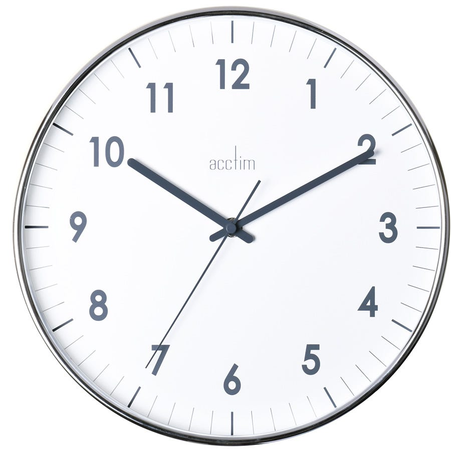Acctim Jensen Wall Clock - Chrome
