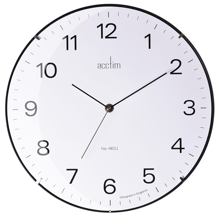Compare cheap offers & prices of Acctim Marcos Glass Wall Clock manufactured by Acctim