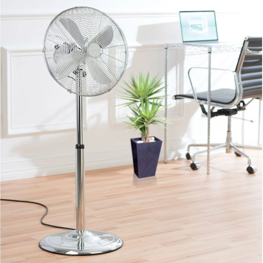 Compare retail prices of Daewoo Pedestal Fan - Chrome to get the best deal online