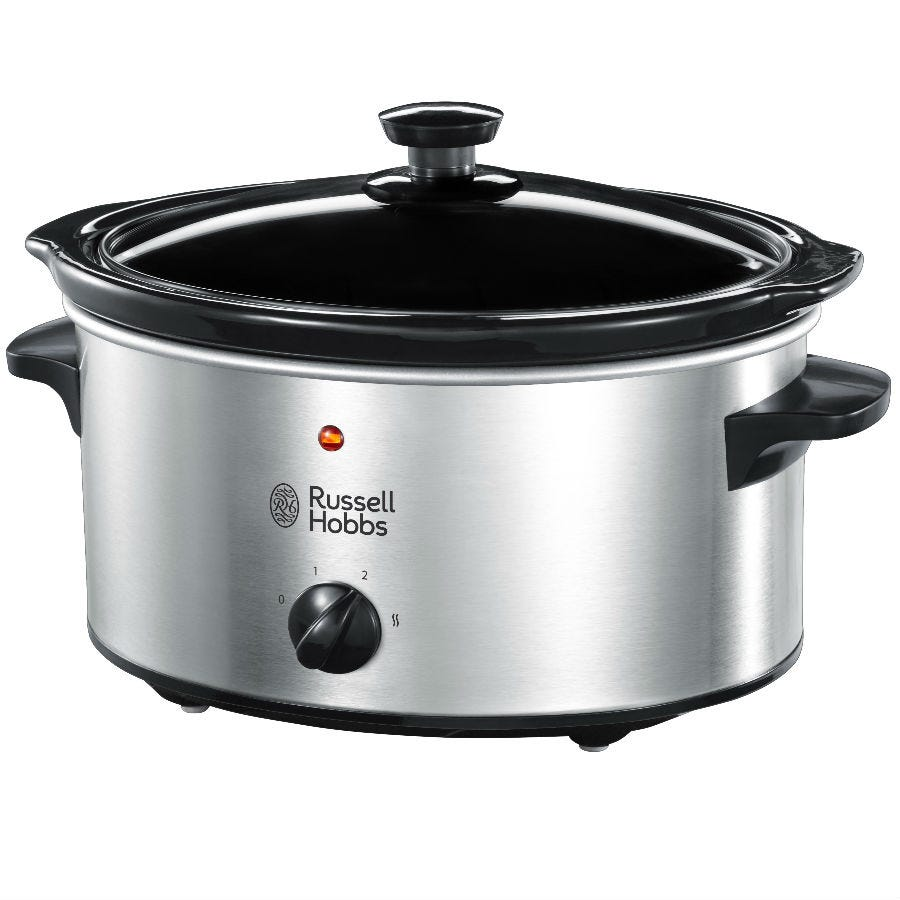 Russell Hobbs 23200 3.5L Slow Cooker - Stainless Steel