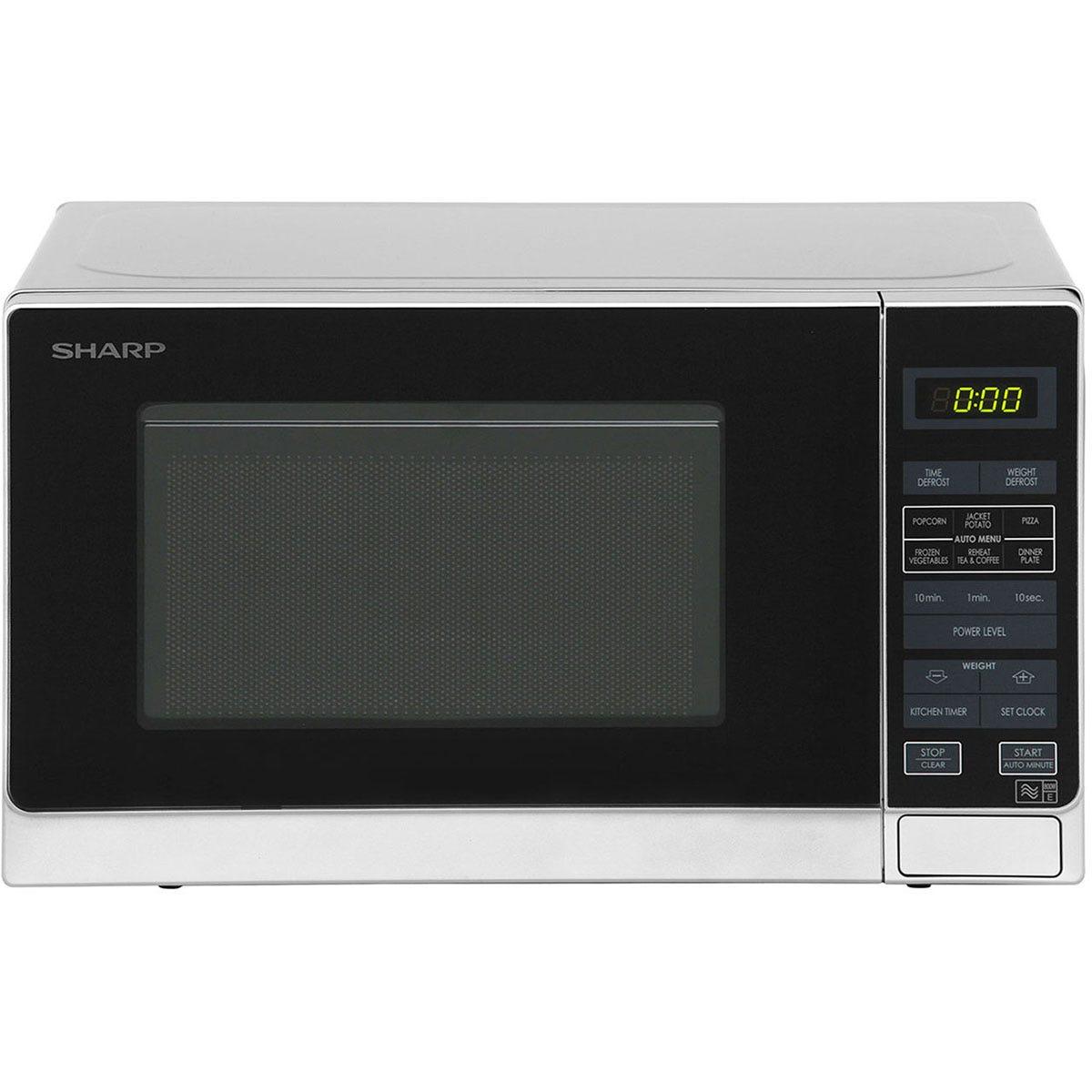 Sharp R272SLM 20L 800W Solo Microwave - Silver