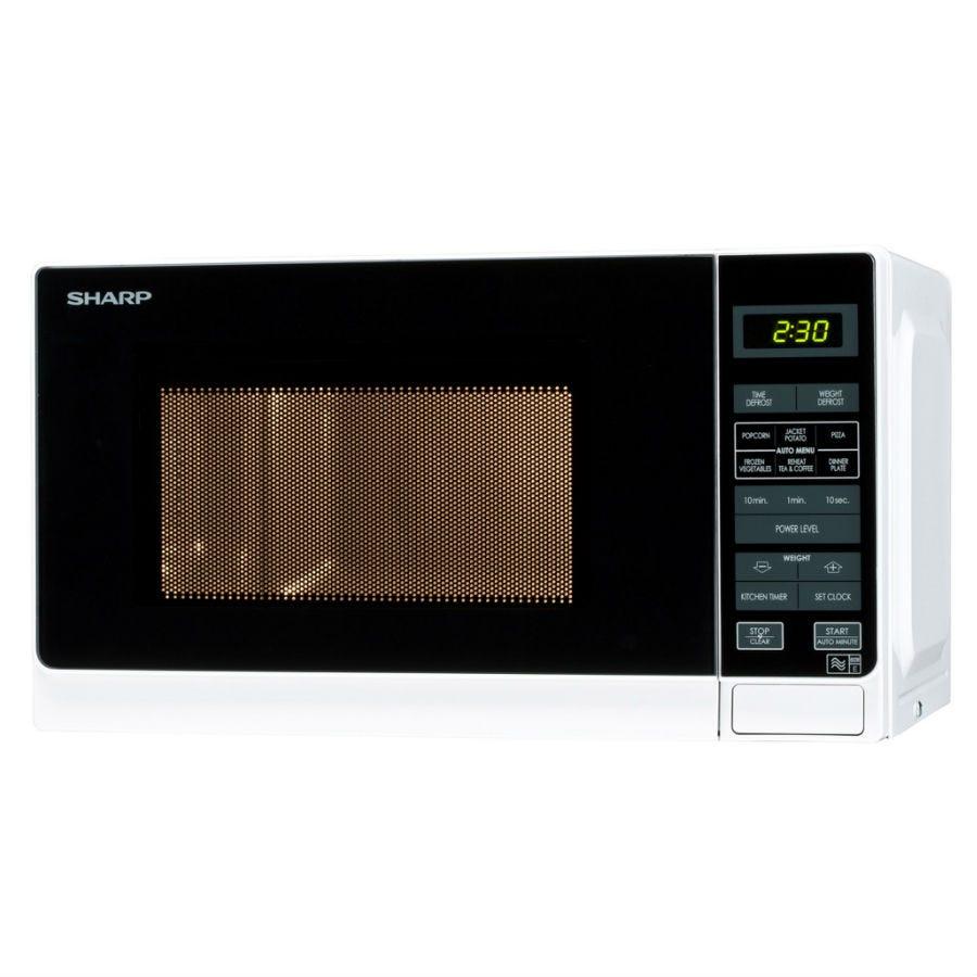 Sharp R272WM 20L 800W Solo Microwave - White