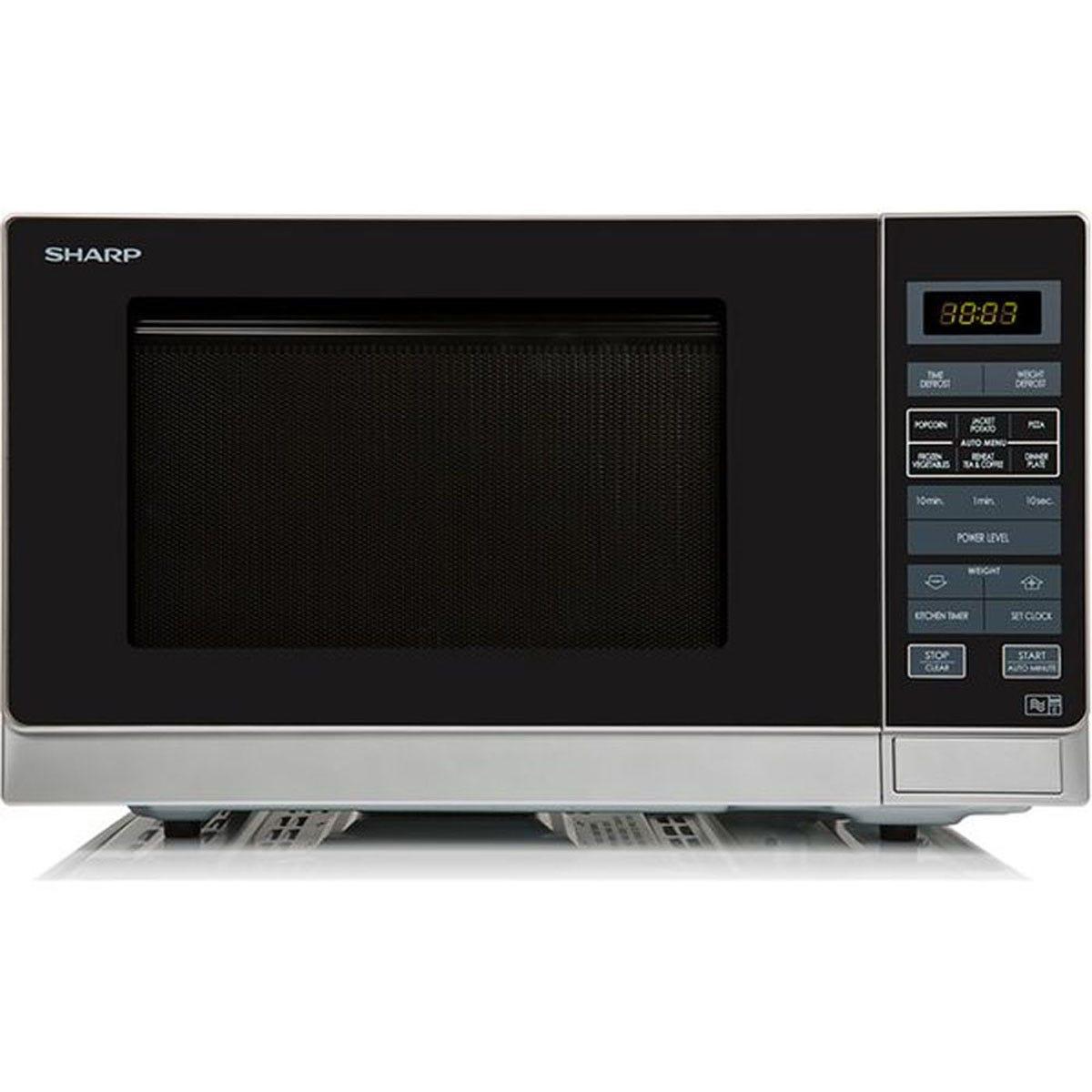 Sharp R372SLM 25L 900W Solo Digital Microwave - Silver