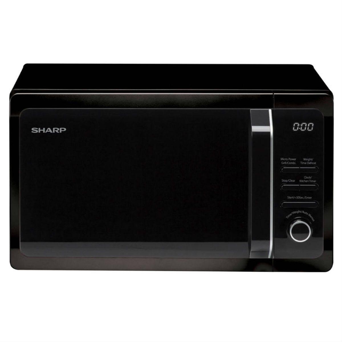 Sharp R664KM 20L 800W Digital Microwave with 1000W Quartz Grill - Black