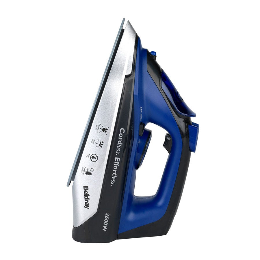 Image of Beldray BEL0747 2-in-1 Cordless Steam Iron - Blue/Black