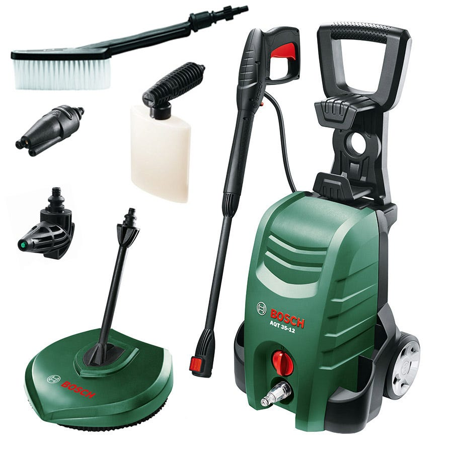 Image of Bosch AQT 3400+ High Pressure Washer with Accessories