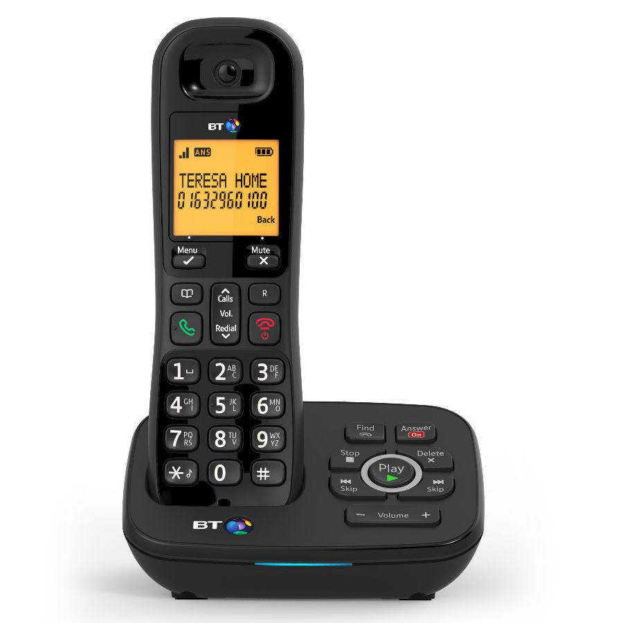 BT 1700 Cordless Phone with Answering Machine and Nuisance Call Blocker - Single