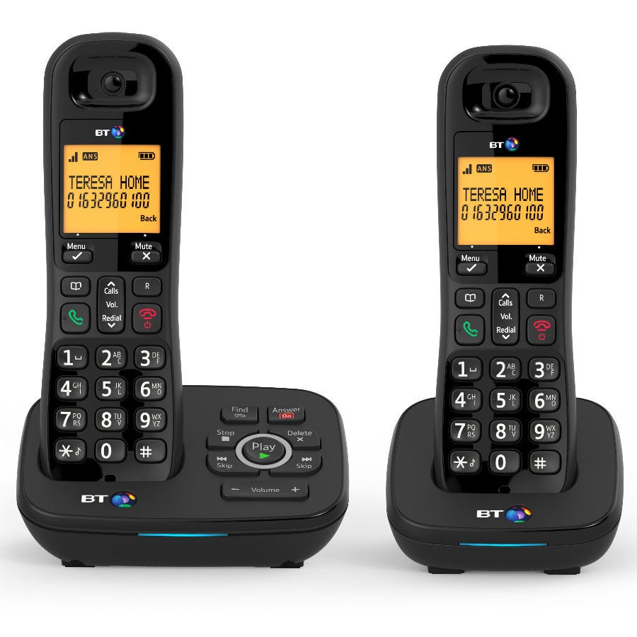 BT 1700 Cordless Phones with Answering Machine and Nuisance Call Blocker - Twin