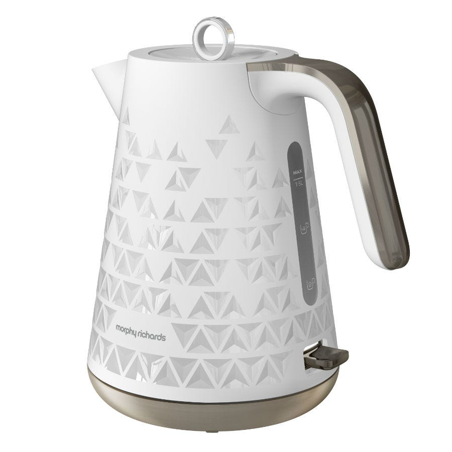 Compare prices for Morphy Richards 1.5L Textured Jug Kettle - White