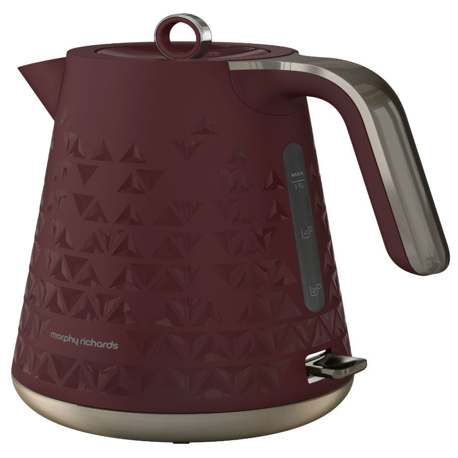 Compare prices for Morphy Richards 1.5L Textured Jug Kettle - Burgundy
