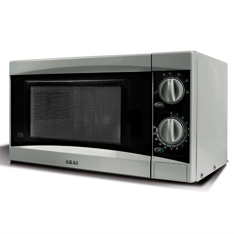 Compare cheap offers & prices of Akai 800-Watt Manual Microwave - Silver manufactured by Akai