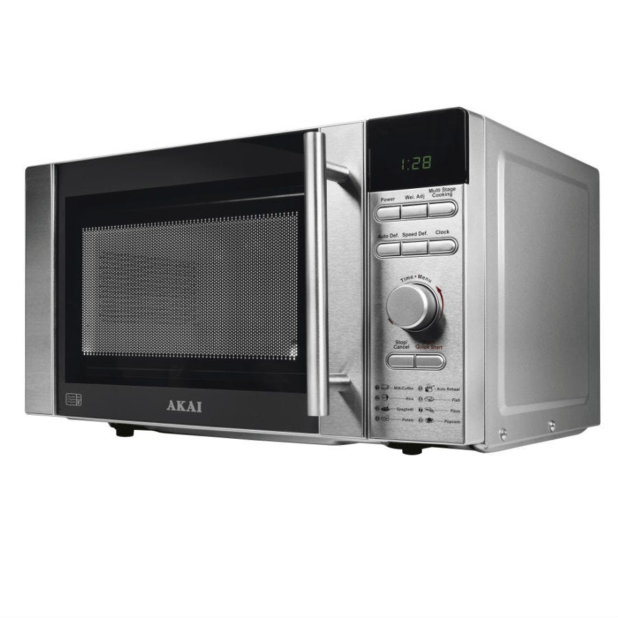 Compare cheap offers & prices of Akai 800-Watt Digital Microwave - Silver manufactured by Akai