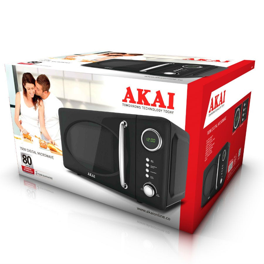 Compare cheap offers & prices of Akai 700-Watt Digital Microwave - Black manufactured by Akai