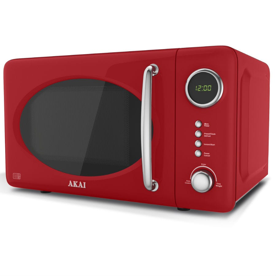 Compare cheap offers & prices of Akai 700-Watt Digital Microwave - Red manufactured by Akai