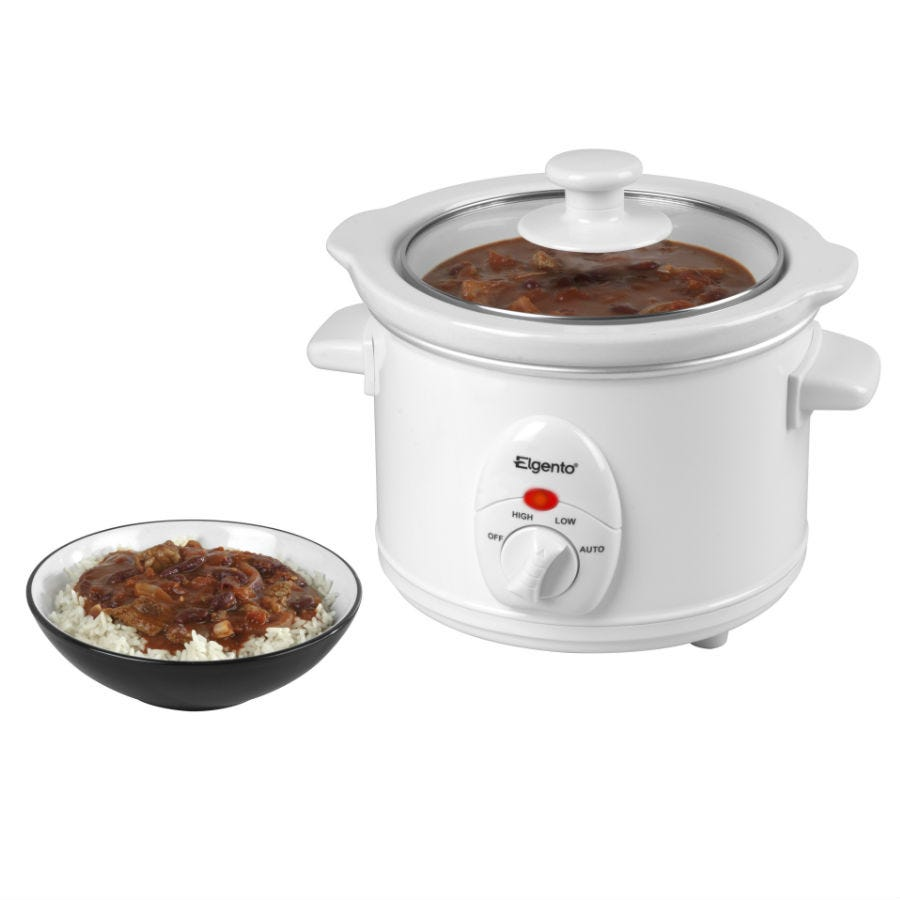Elgento 1.5-Litre Slow Cooker - White