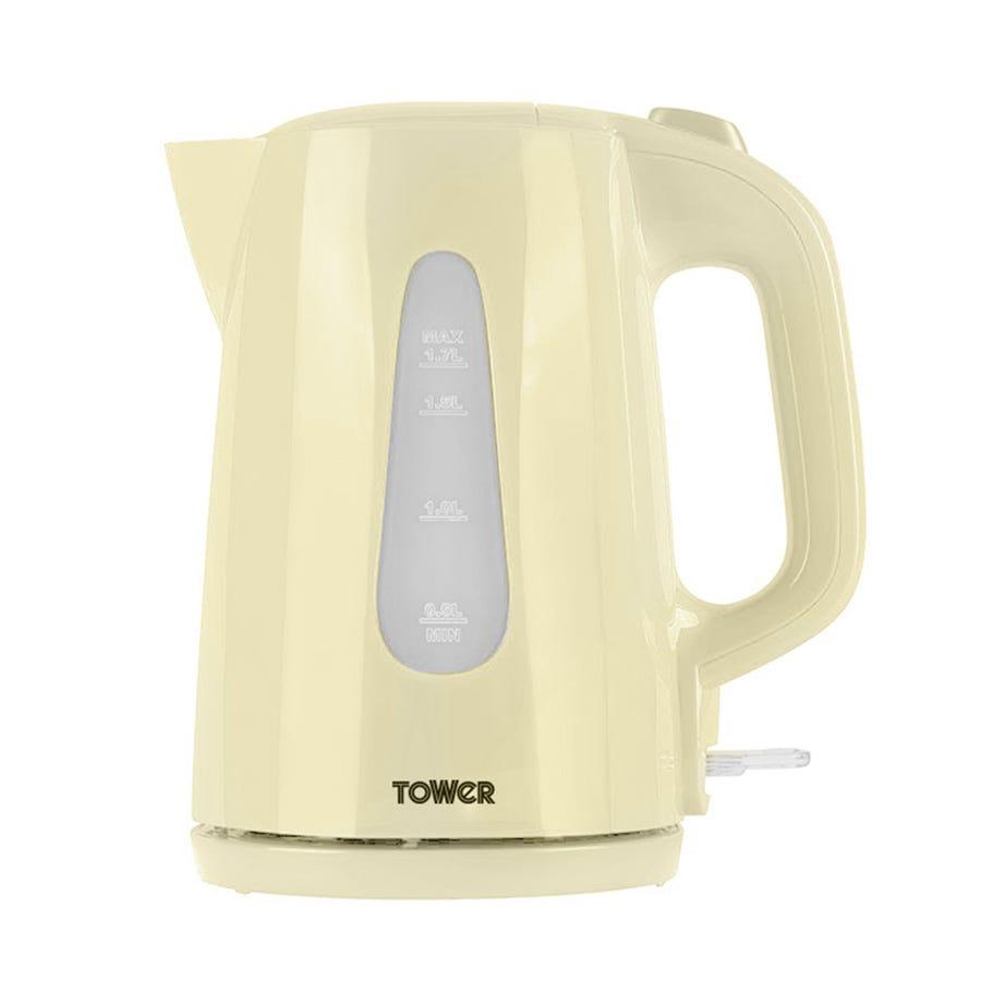 Tower T10014C Elements 3000W Rapid Boil 1.7L Jug Kettle - Cream