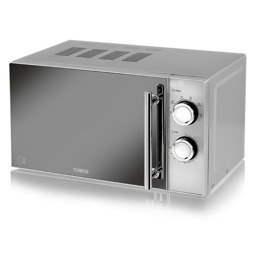 Tower T24015S 800W 20L Manual Microwave - Silver