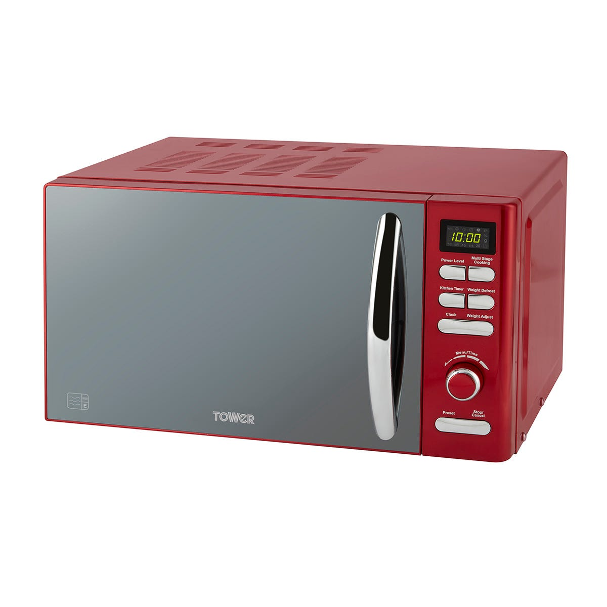 Tower T24019R Infinity 800W 20L Digital Microwave - Red