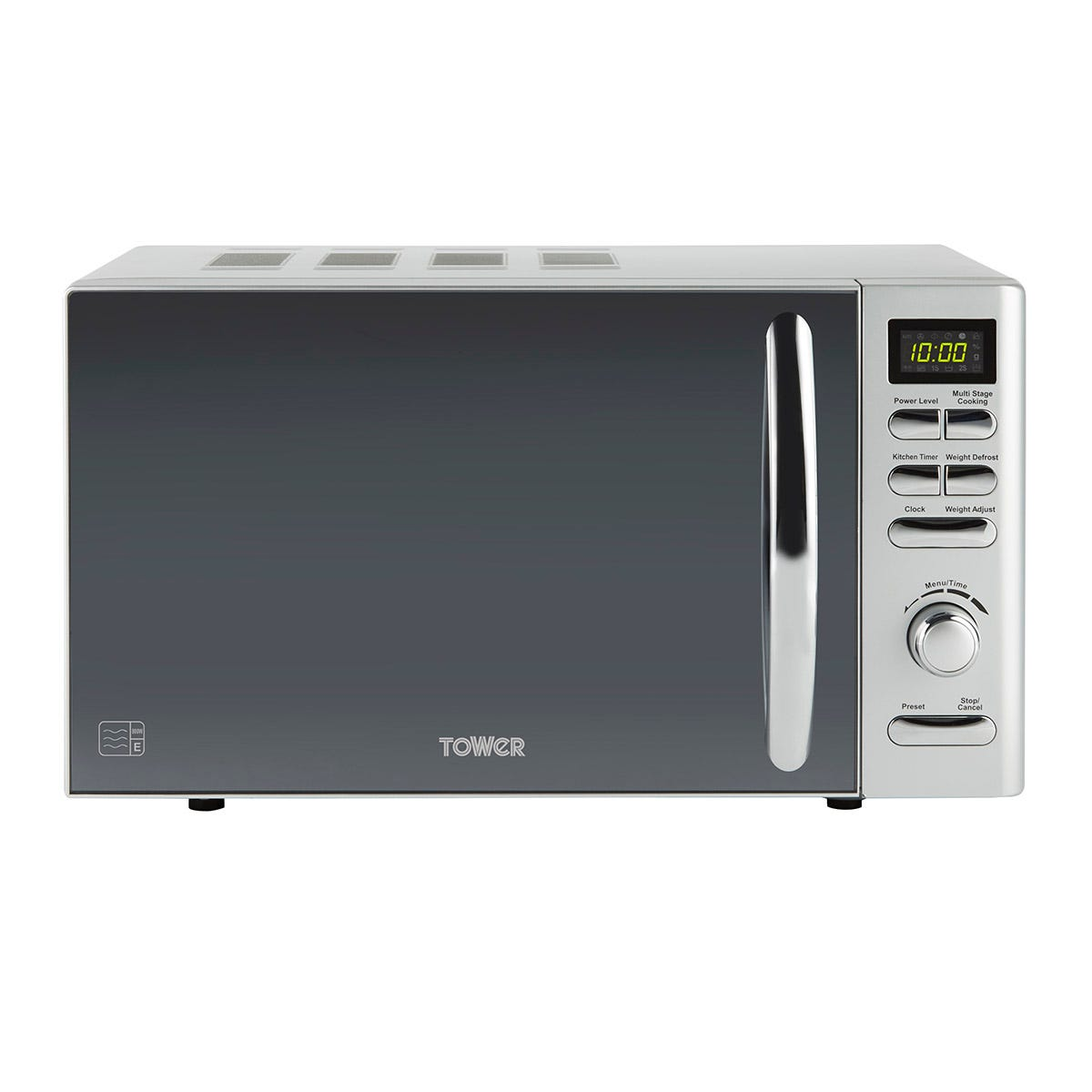 Tower T24019S Infinity 800W 20L Digital Microwave - Silver