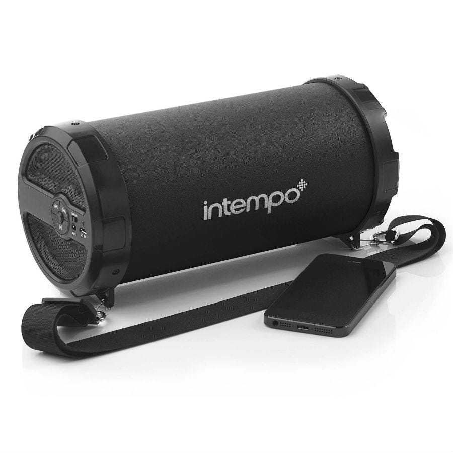 Compare prices for Intempo Large Rechargeable Bluetooth Tube Speaker