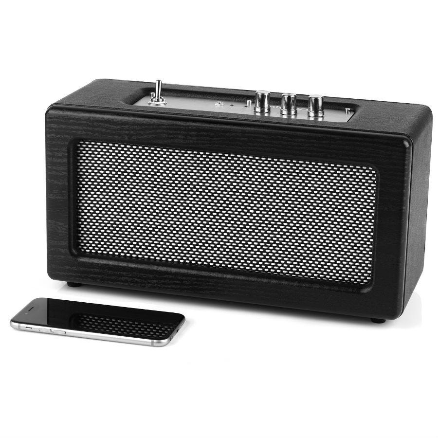 Compare prices for Intempo Retro Bluetooth Speaker /Silver