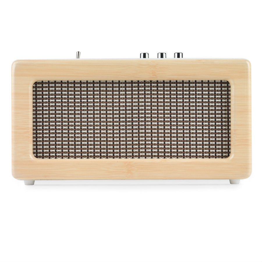 Compare prices for Intempo Retro Bluetooth Speaker - Cream/Gold