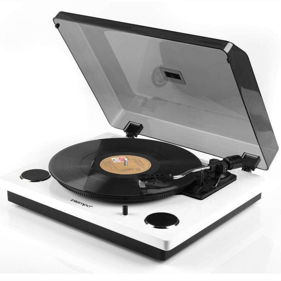 Compare prices for Intempo Stylus Mark 2 Turntable Record Player