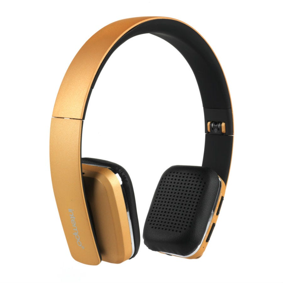 Compare prices for Intempo Bluetooth Wireless Headphones - Gold