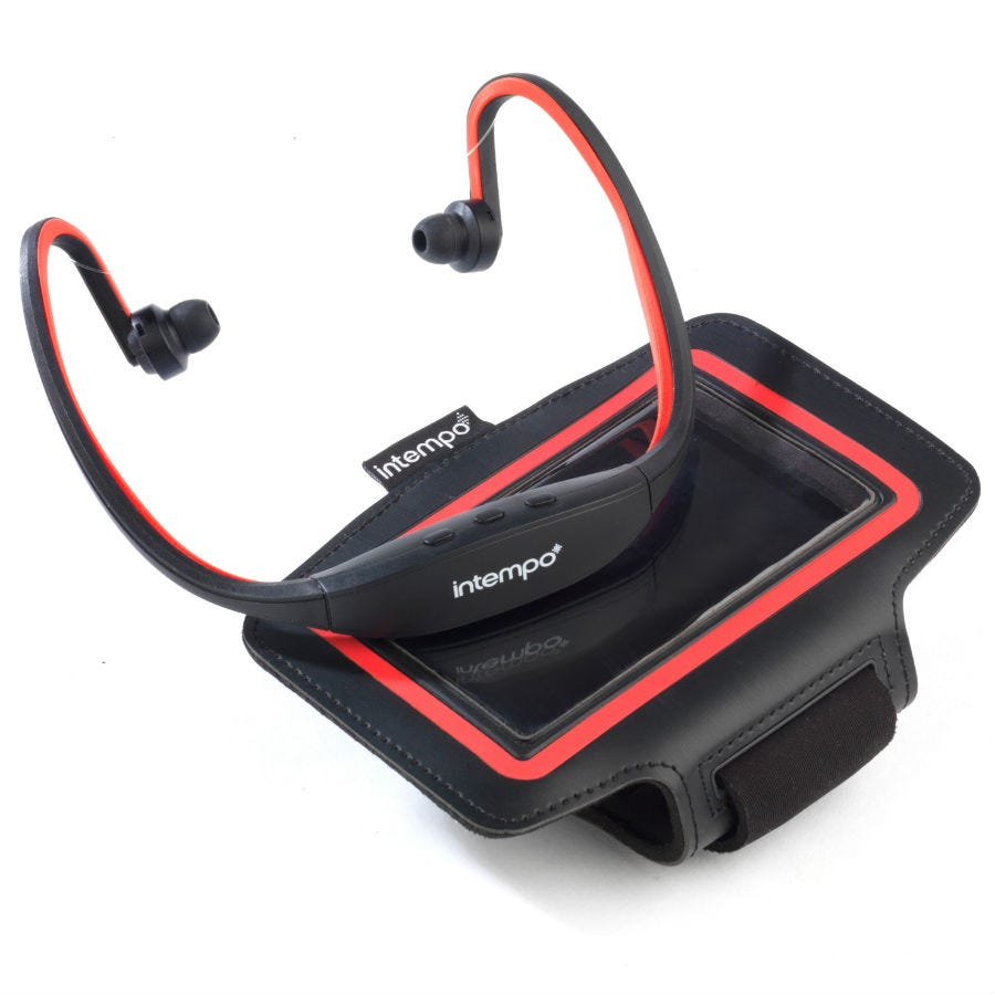 Compare prices for Intempo Bluetooth Wireless Sports Earphones Running Set /Red
