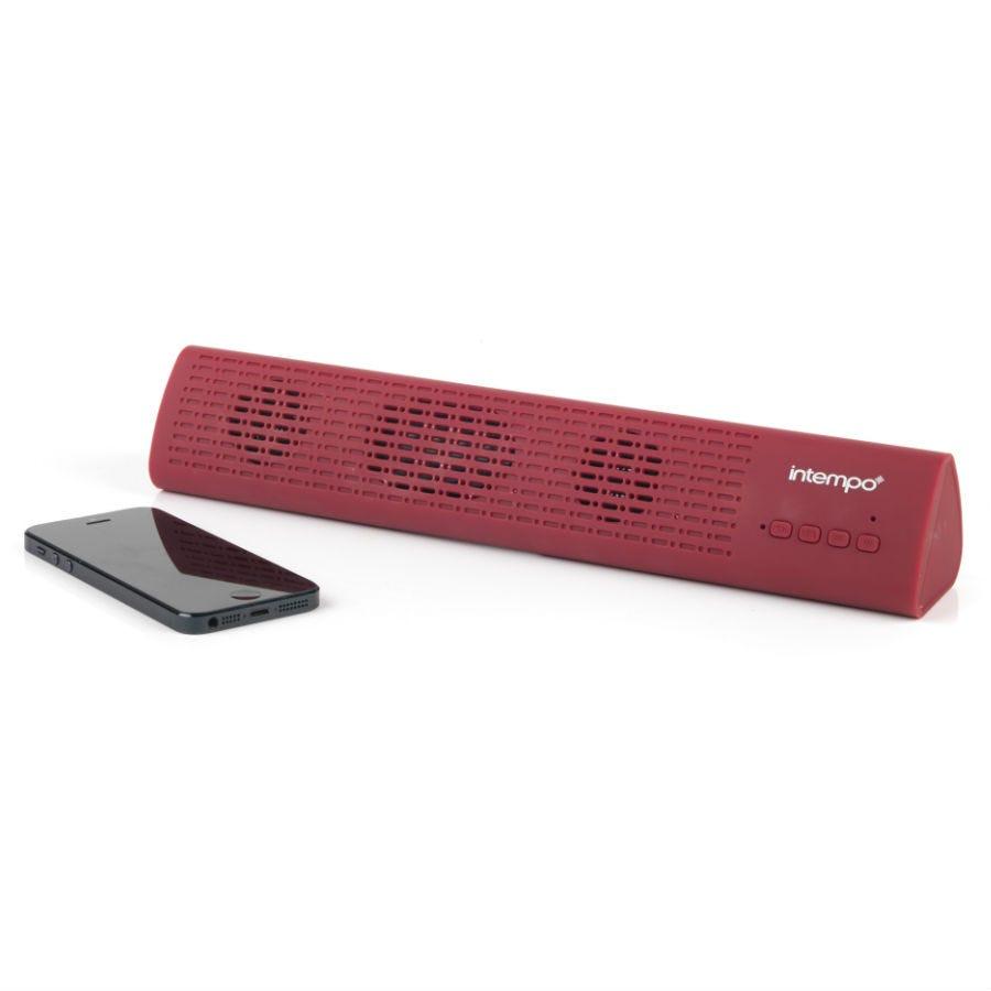 Intempo Mini Bluetooth Sound Bar Speaker - Red