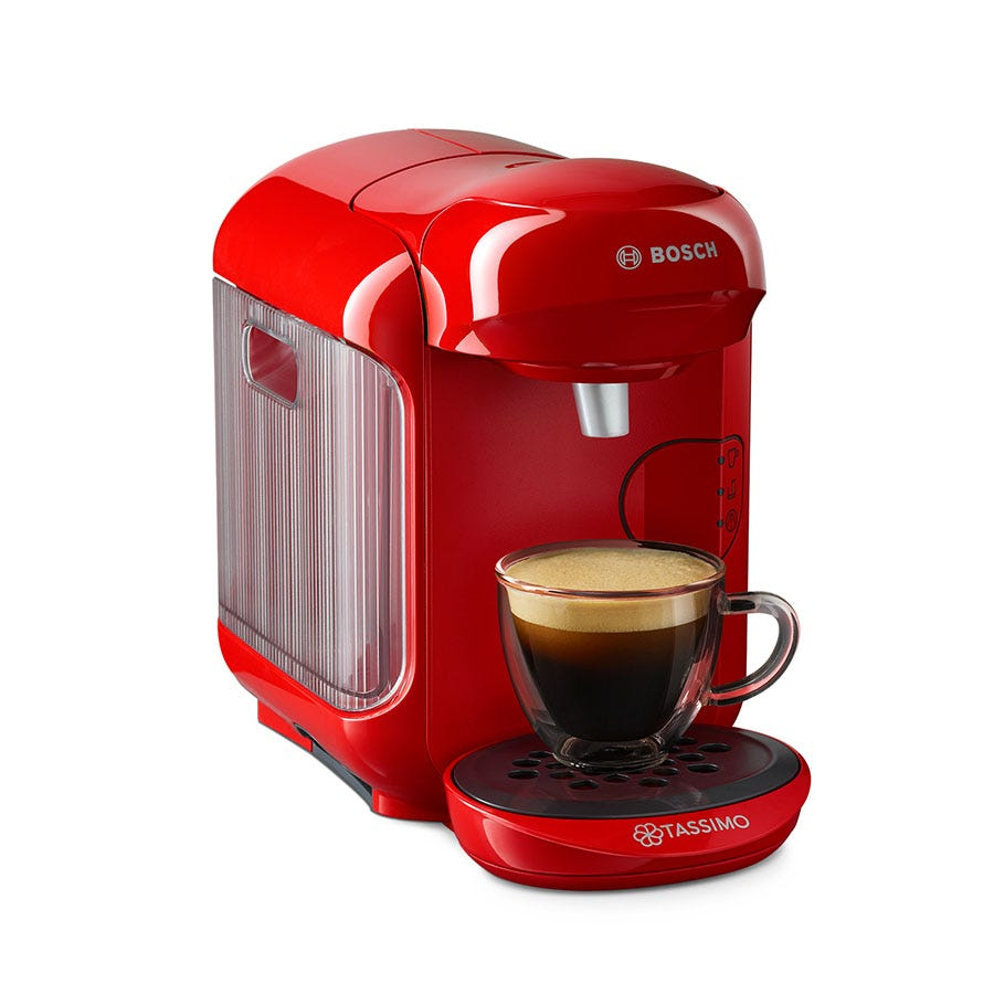 Compare cheap offers & prices of Bosch Tassimo Vivy II Hot Drinks and Pod Coffee Machine - Red manufactured by Bosch