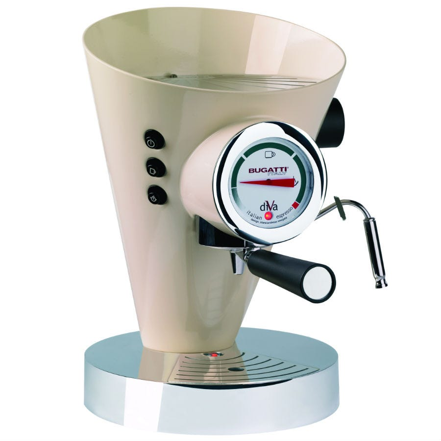 Compare cheap offers & prices of Bugatti Diva Espresso Machine - Cream manufactured by Bugatti