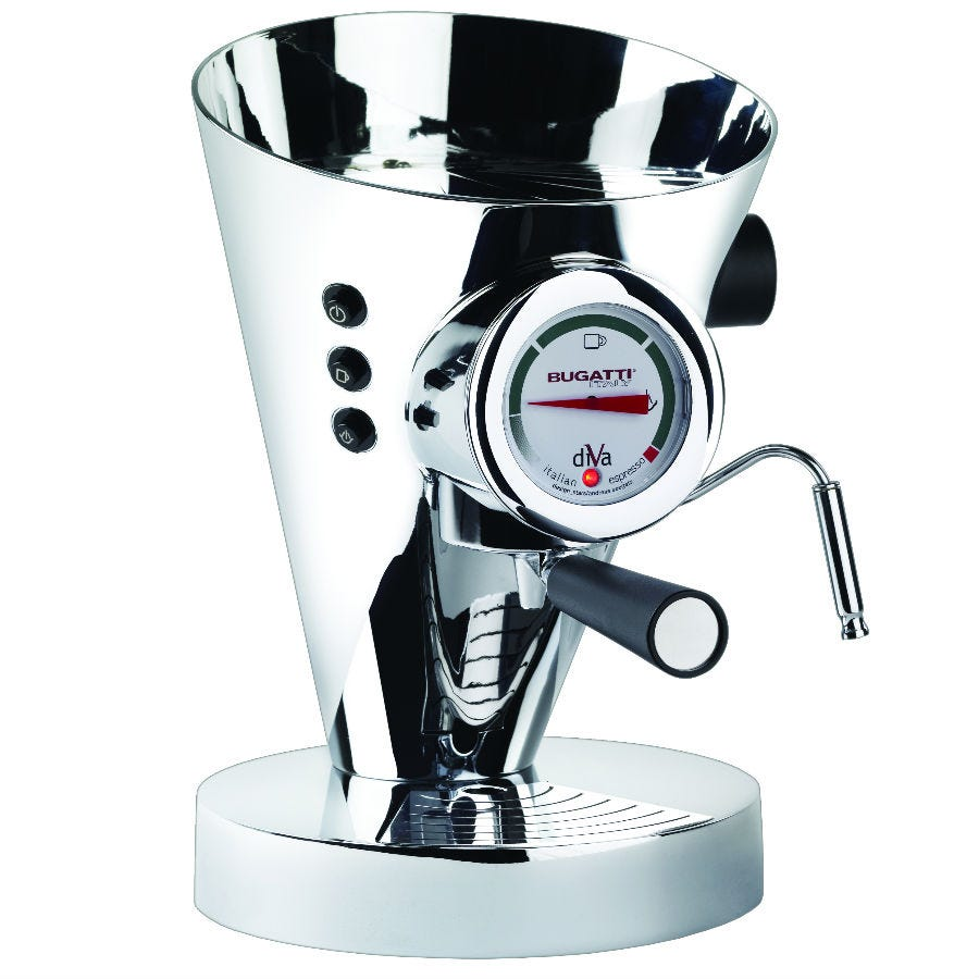 Compare cheap offers & prices of Bugatti Diva Espresso Machine - Chrome manufactured by Bugatti