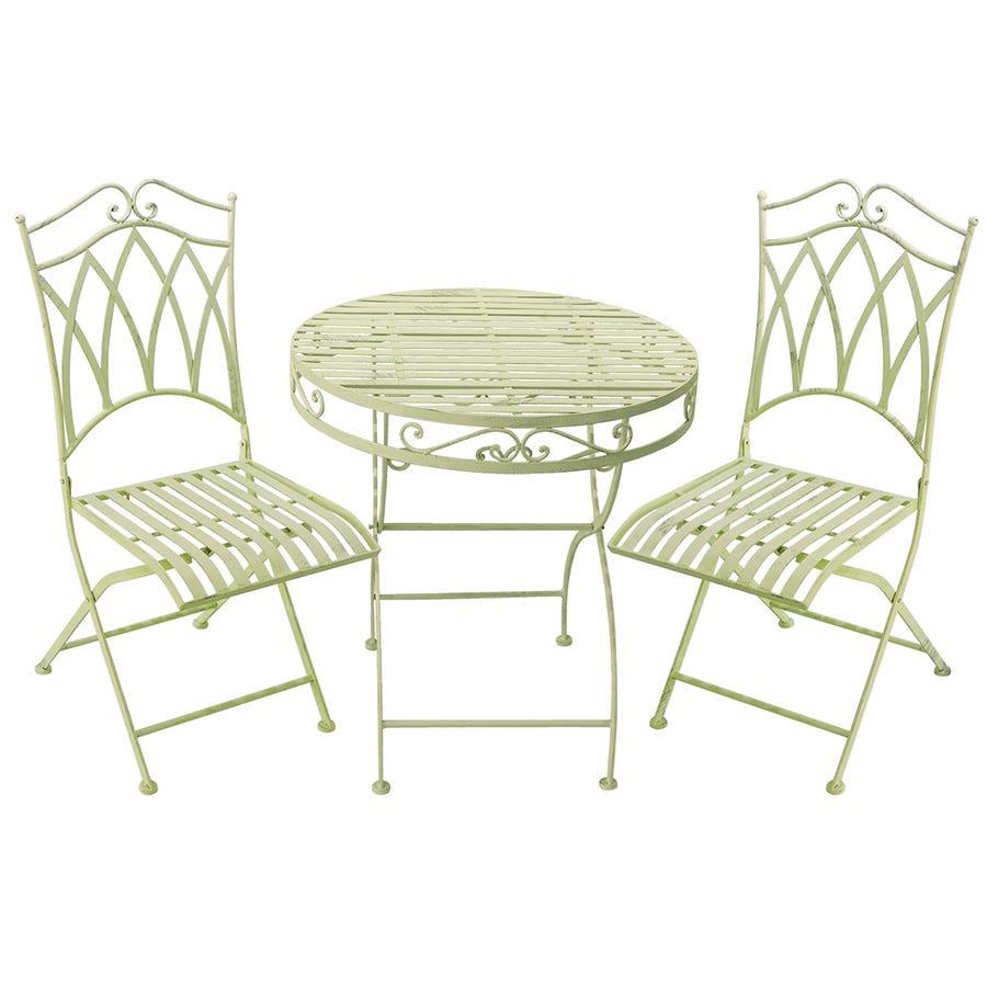 My Botanical Garden Wrought Iron Garden Table & 2 Chairs