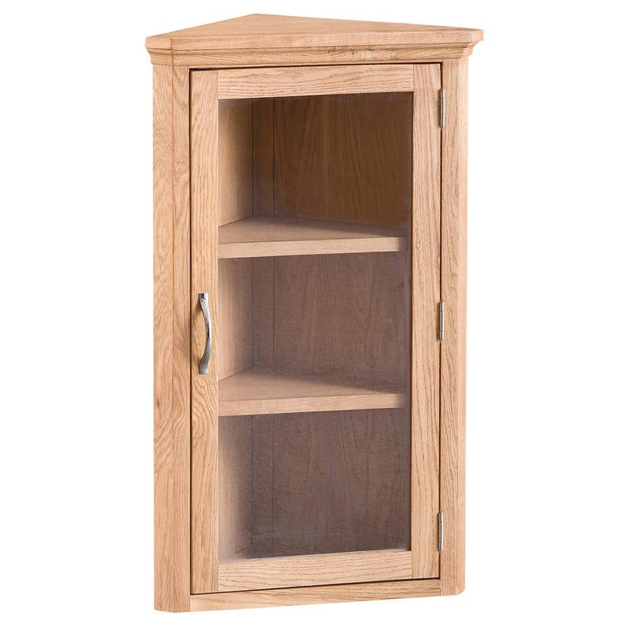 Fenwin Ready Assembled Corner Display Cabinet
