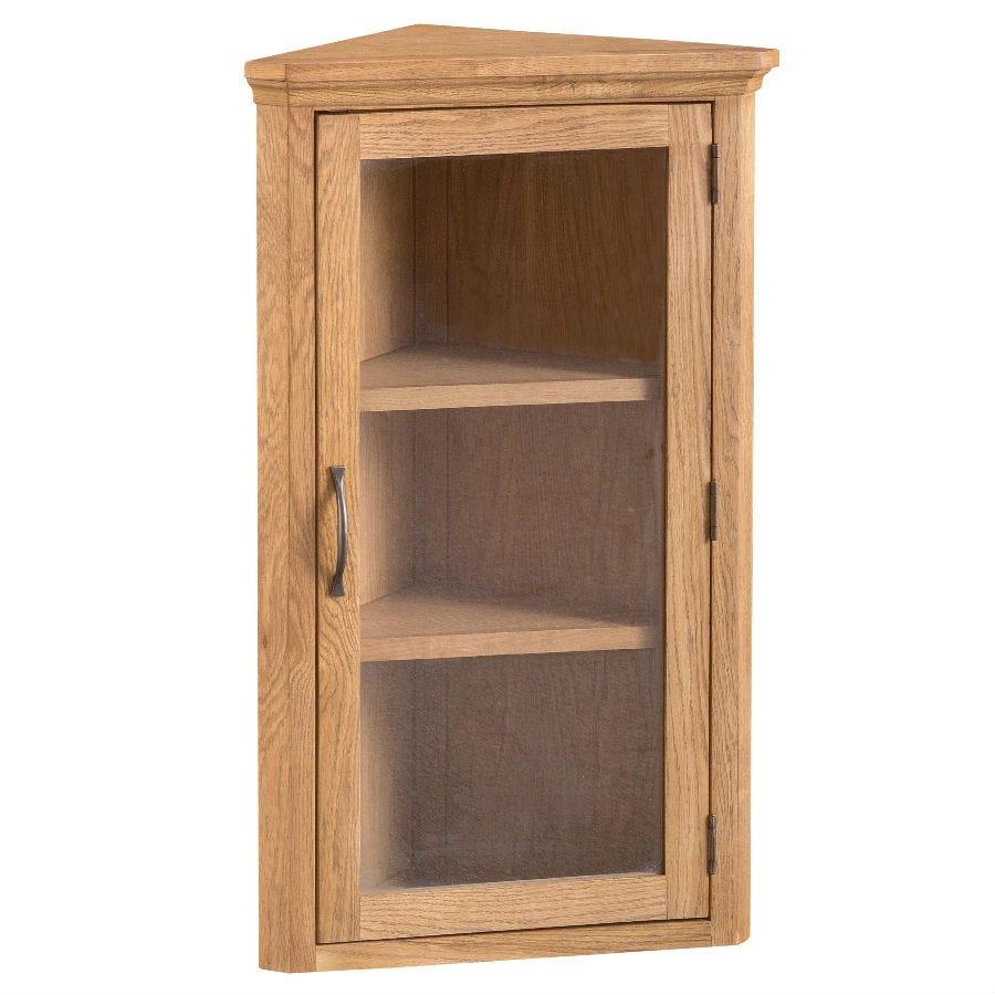 Hindsley Ready Assembled Corner Display Cabinet