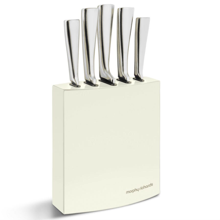 Compare cheap offers & prices of Morphy Richards Accents 5-Piece Knife Block - Ivory manufactured by Morphy Richards