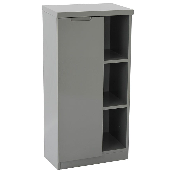 Image of Alzora Bathroom Storage Cabinet - Grey