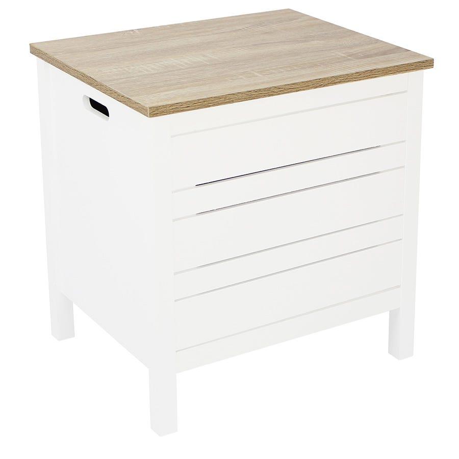 Image of Alethea Laundry Basket - White Oak